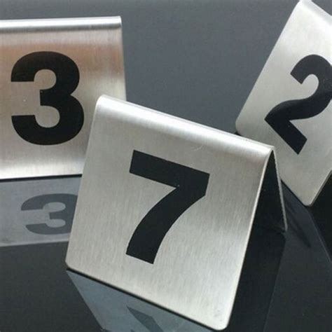 stainless steel table numbers hire brisbane