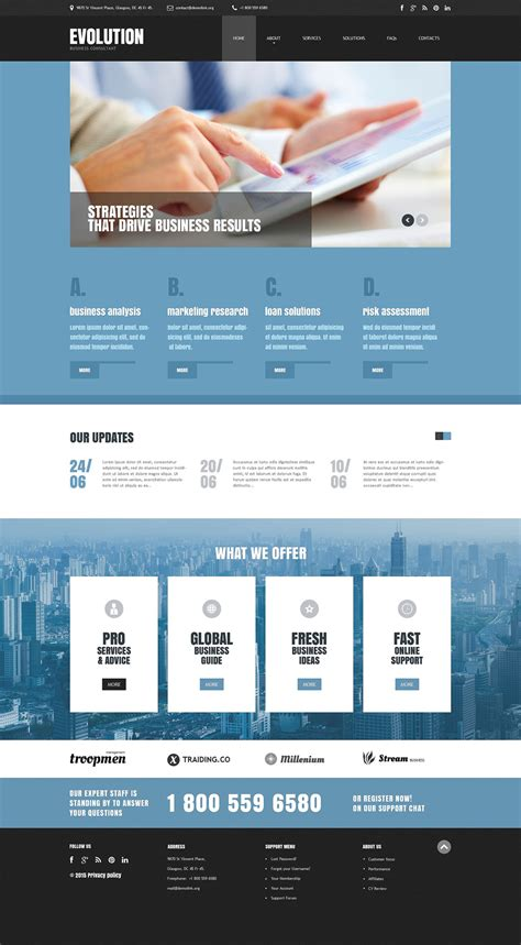 responsive templates for business website business responsive website template 55407