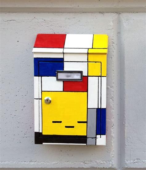 cassetta della posta cassetta della posta in stile mondrian mondrian mailbox