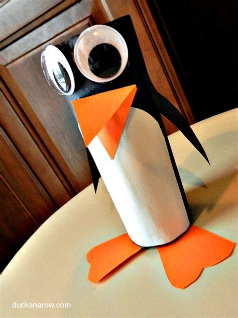 Penguin Toilet Paper Roll Craft - how to make a toilet paper roll penguin