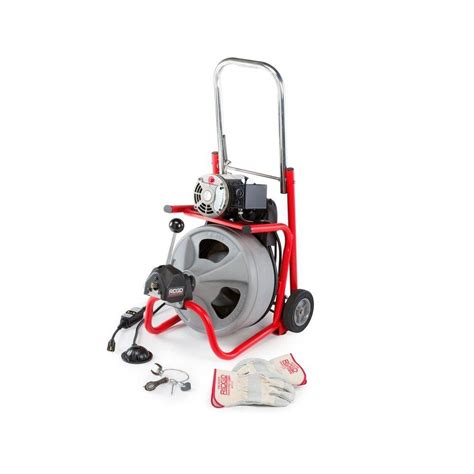 ridgid k 400 drum machine with c 32 iw cable 52363 the