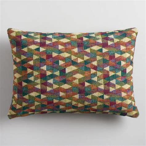 Pillow Multicolor multicolor jacquard lumbar pillow world market