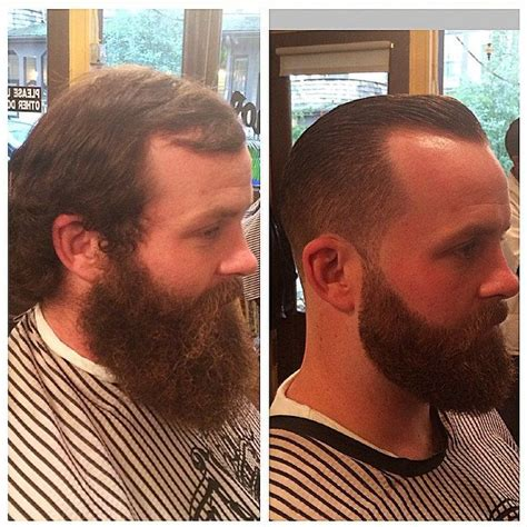 before and after thinning mens haircut best 25 haircuts for receding hairline ideas on pinterest