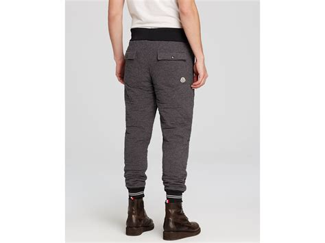 Quilted Joggers by Moncler Pantalone Quilted Joggers In Gray For Lyst