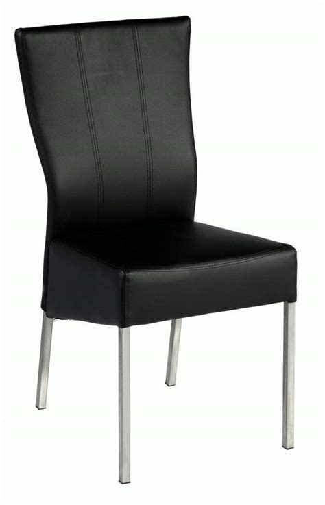 stylish curved back side chair with comfortable black