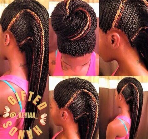 braided mohawk with senegalese twist 17 best images about braids i love on pinterest ghana