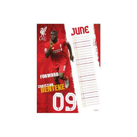 libro official liverpool 2016 a3 calendrier 2016 liverpool football club format a3