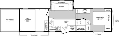 raptor floor plans 2007 keystone raptor fifth wheel rvweb com