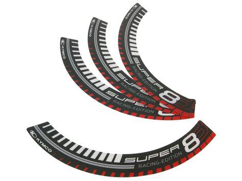 Aufkleber Kymco Roller by Felgenrand Aufkleber Kymco Super 8 Racing Edition F 252 R