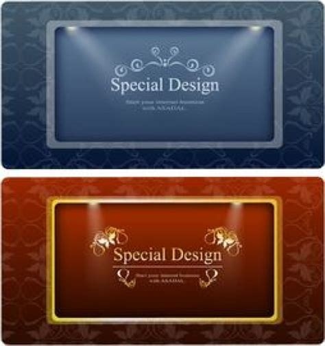 classic design banner classic banner design with lights and ornaments vector