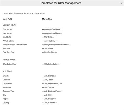Docusign Report By Template Create Offer Template For Docusign Smartrecruiters