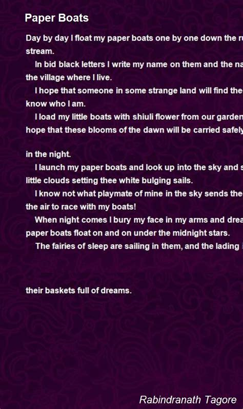 through poetry in written english and british sign language bsl paper boats poem by rabindranath tagore poem hunter