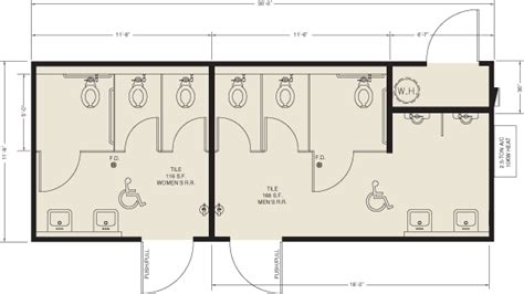 public bathroom size public restrooms dimensions floor plans montessori