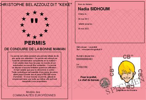 pr馭ecture de de bureau des permis de conduire permis de conduire de la bonne maman