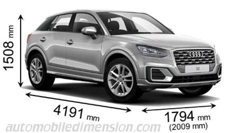 audi q2 2016 dimensions, boot space and interior