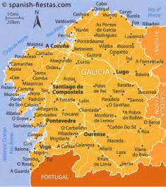 Galicia Spain Map by Galicia Travel Guide Spanish Fiestas