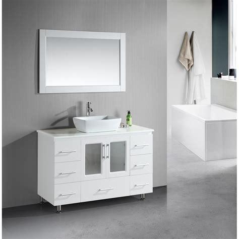 design element stanton white bathroom vanity set design element stanton 48 quot single sink vanity set with