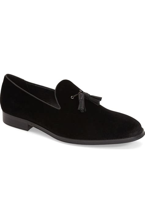 black suede loafers mens handmade black suede tassels loafer mens black casual