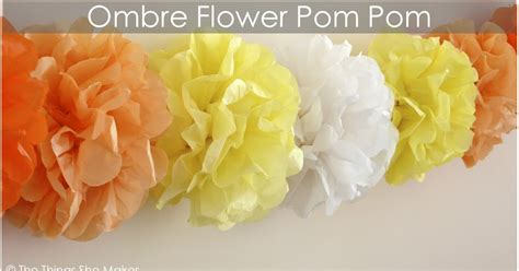 How To Make Tissue Paper Pom Pom Garland - how to make an ombre tissue paper flower pom pom garland