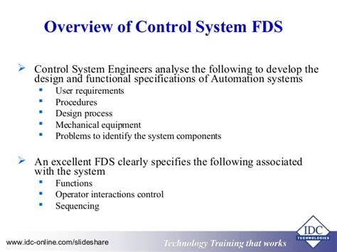 functional design document template design of industrial automation functional specifications