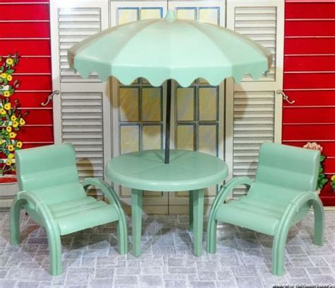 doll house furniture ebay marx mansion patio set 3 4 quot vintage dollhouse furniture