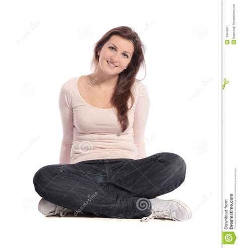 Free Program For Drawing Floor Plans by Woman Sitting Cross Legged Royalty Free Stock Photography