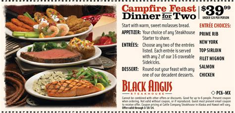 black angus coupons campfire feast 2018