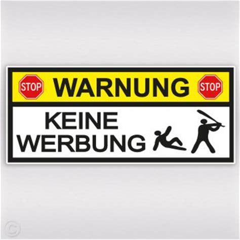 Bitte Keine Werbung Aufkleber Trafik by Warnung Aufkleber Mit Baseball Schl 228 Ger Keine