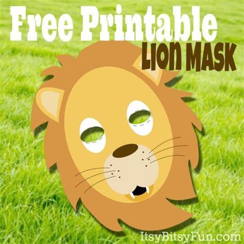 printable lion mask itsy bitsy fun free printable