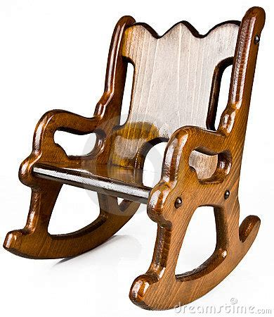 childs solid wood rocking chair royalty  stock images