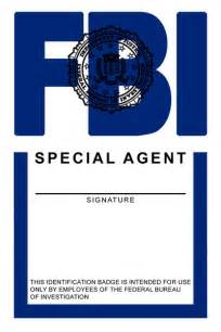 Special Agent Id Card Template Fbi Badge Template Bing Images