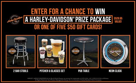 Harley Sweepstakes - harley davidson prize package sweepstakes