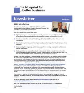 business newsletter templates 8 business newsletter templates free sle exle