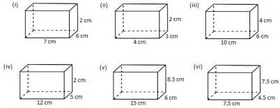 worksheet on volume of a cube and cuboid the volume of a
