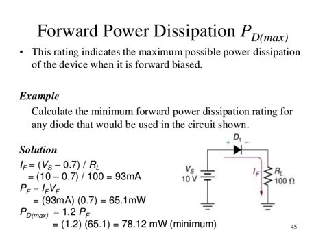 power dissipated by the resistor formula topic 3 pn junction and diode