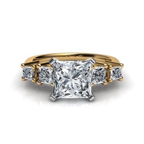 5 princess cut engagement ring