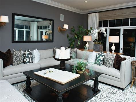 hgtv designer living rooms gray living room with bold accents hgtv
