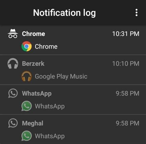 android notification history view accidentally dismissed notifications on android android notification history