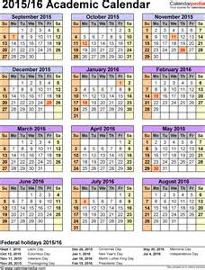 Craven County School Calendar Academic Calendars 2015 2016 As Free Printable Excel Templates