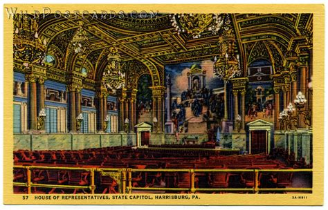 pennsylvania house of representatives house of representatives state capitol harrisburg pa wild postcards