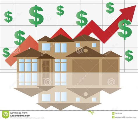 house rising value graph royalty free stock photos image