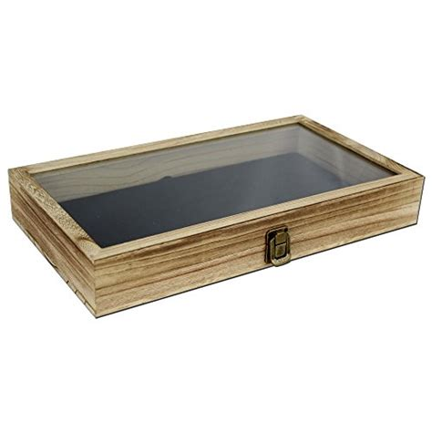 Tempered Glass Zagbox wooden jewelry accessories display storage box with tempered glass top lid zen