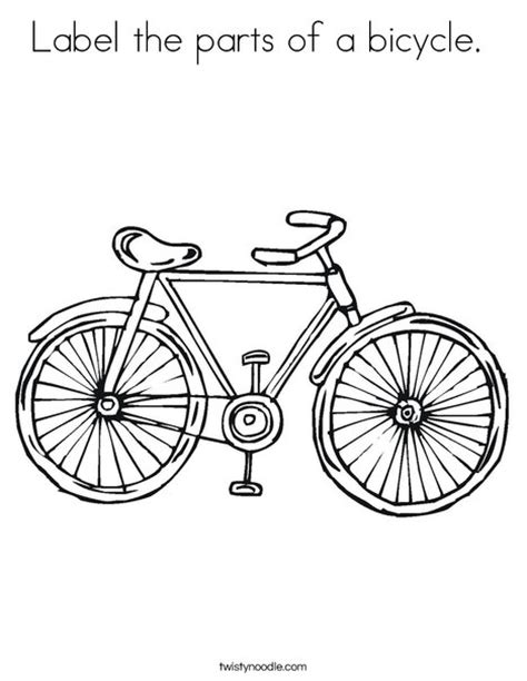 bike parts list template label the parts of a bicycle coloring page twisty noodle