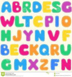 seamless children s bright alphabet pattern royalty free