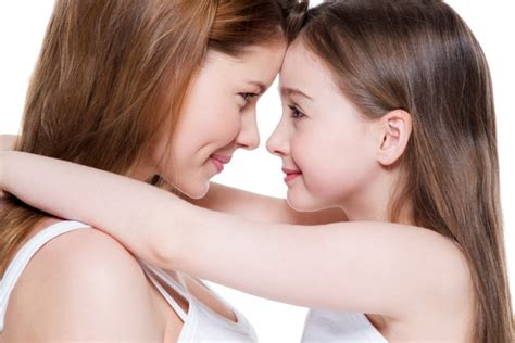 Mother And Daughter Embraced Smiling Stock Photo Free Download