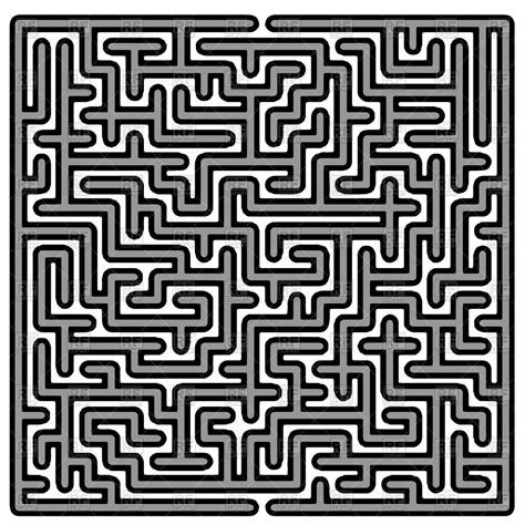 Labyrinth Outline by Labyrinth On White Background Vector Image 94764 Rfclipart