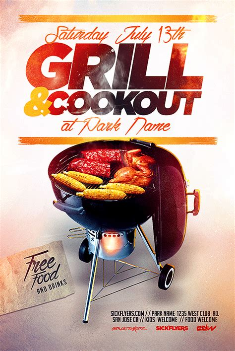 Cookout Flyer Template bbq cookout flyer template on behance