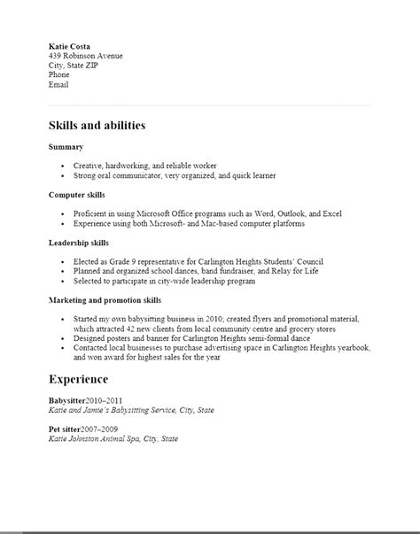 resume templates high school student print functional resume template for high school students