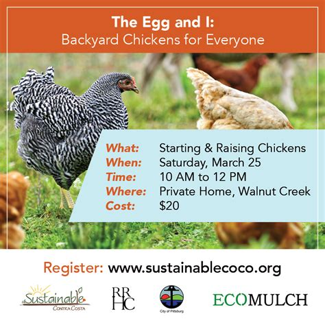 sign up now for workshops on backyard chickens and