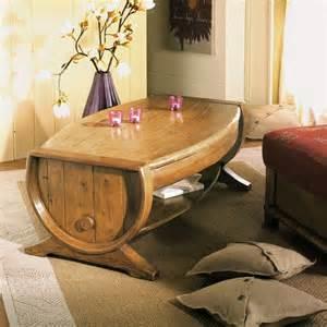 table basse tonneau bacchus